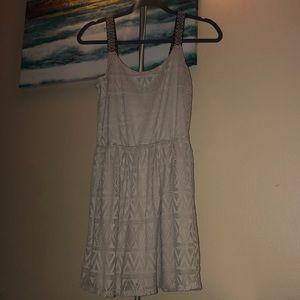 Chevron textured dress